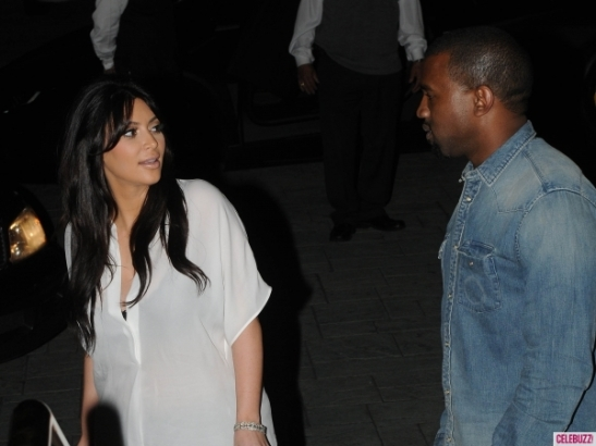 Exclusive - Kim Kardashian & Kanye West Out on Valentine's Dinner Date