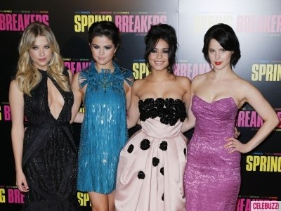 Rachel Korine, Vanessa Hudgens, Selena Gomez, Ashley Benson at the 'Spring Breakers' Paris Premiere
