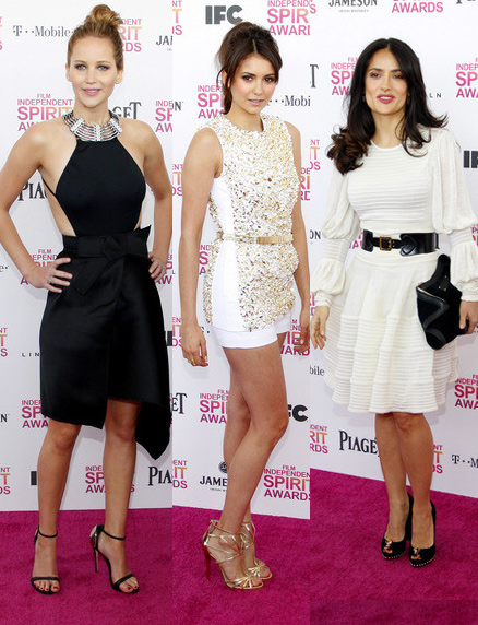 Jennifer Lawrence, Nina Dobrev and Salma Hayek